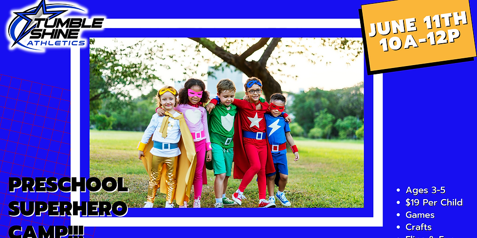 Superhero Preschool Camp