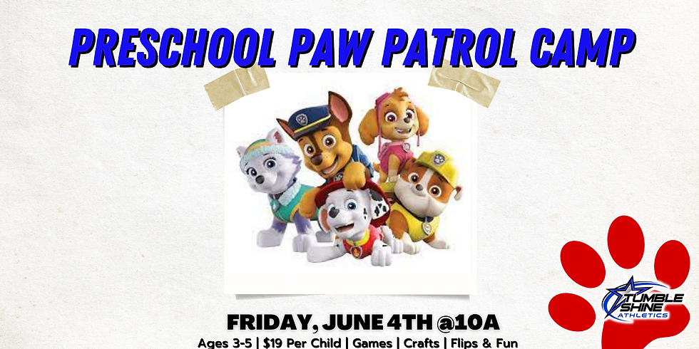 Paw Patrol Preschool Camp
