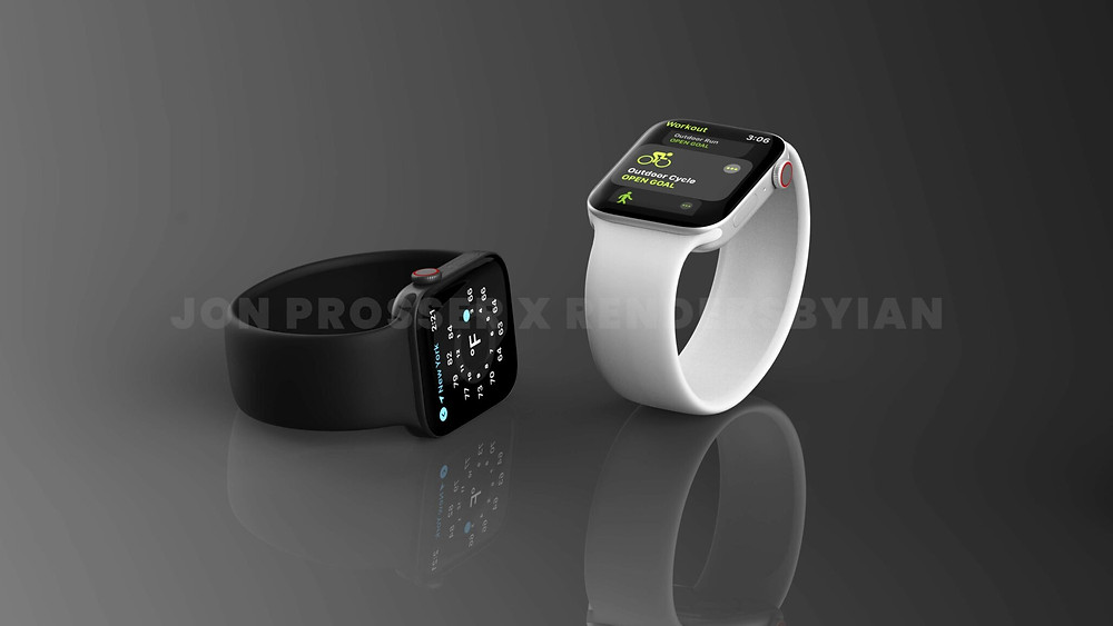 Apple Watch Series 7 side on view