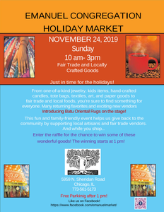 Annual Holiday Market Is Coming Soon!