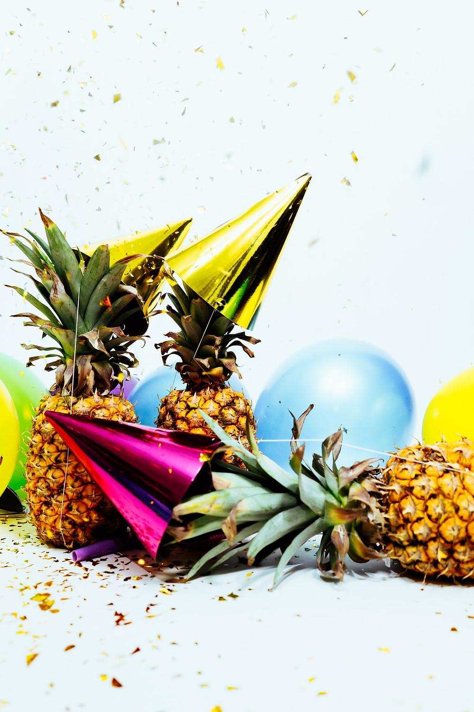 pineapple and confetti