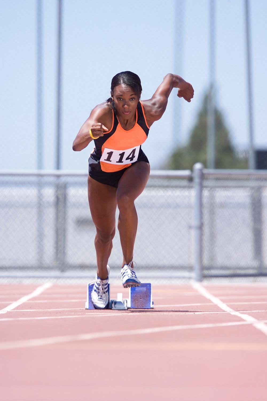 Track runner, african american