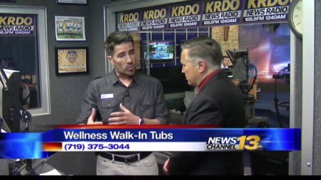 Check out owner Sean Welch on the set of KRDO being interviewed about Wellness Walk-In Tubs and local non-profit organzation the Senior Resource Council, or the SRC.