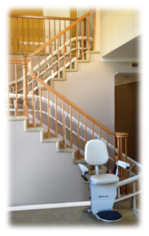 Helix Curved Rail Stair Lift