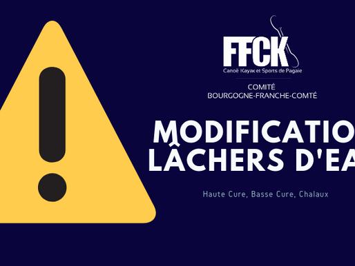 Infos lâchers d'eau sur le Chalaux - Mise à jour le 31/07/2019