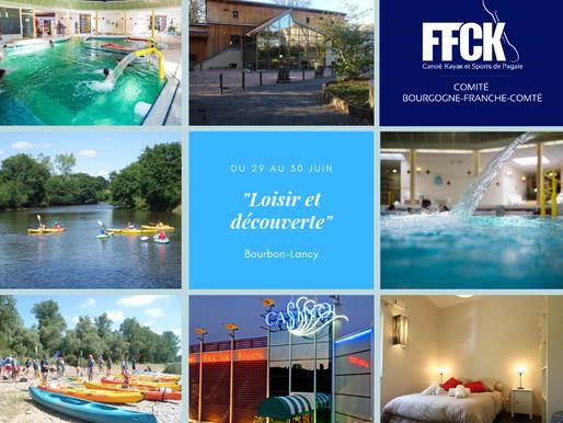 """Week-end """"loisir et découverte"""" à Bourbon-Lancy - 29/30 juin 2019"""
