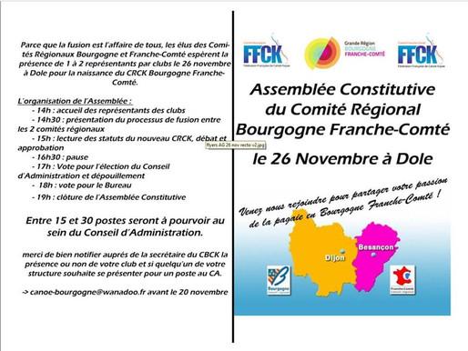 Assemblée Constitutive de Comité Régional Bourgogne Franche-Comté