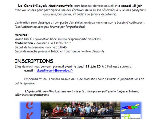 Animation jeunes à Audincourt le 15 juin 2019