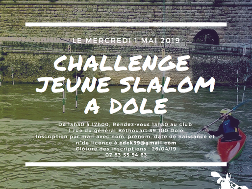 Compétition jeune de Slalom - Dole - 1er mai 2019