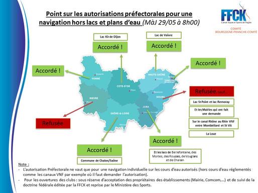 Point sur les autorisations préfectorales pour une reprise d'activité - MàJ 29/05 à 8h00