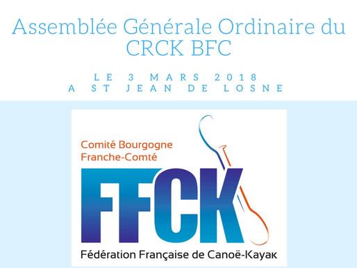 Assemblée Générale Ordinaire du CRCK BFC