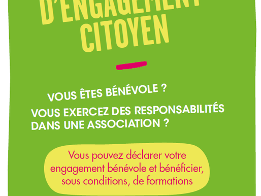 """""""Compte d'Engagement Citoyen (CEC)"""" pour les bénévoles - UNIFORMATION"""