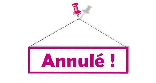 ANNULATION weekend Loisir EV 14/15/16 Aout