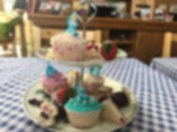 Victoria sponge cake, the Old Barn at Wadenhoe