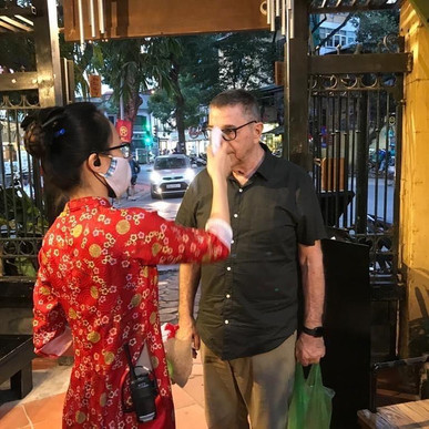 Paul Mooney in Hanoi, Vietnam