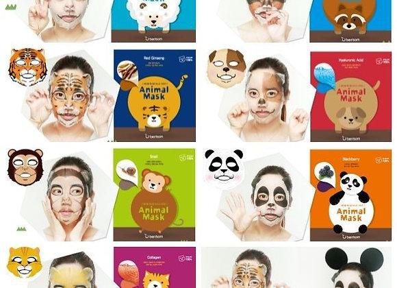 Корейские маски для лица из серии Animal Mask дракон/тигр/панда