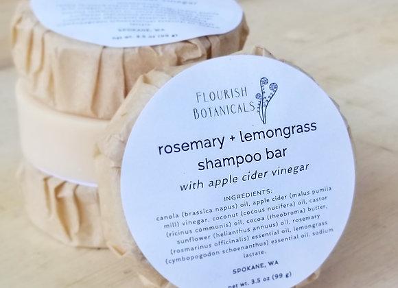 ROSEMARY + LEMONGRASS SHAMPOO BAR
