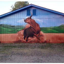 Coarsegold Bull Mural