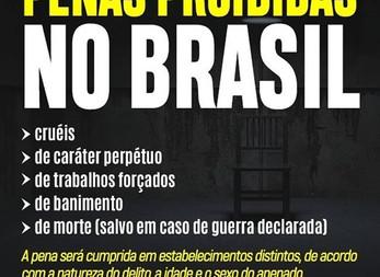 Penas proibidas no Brasil.