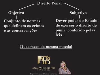 Duas faces da mesma moeda! Direito penal. #DropsJurídicos acompanhe no instagram @anapaulabritoadv A