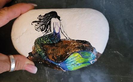 mermaid ainted rock