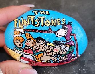 the flintstones painted rock