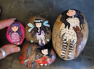fairy painted rock little girls painted rocks