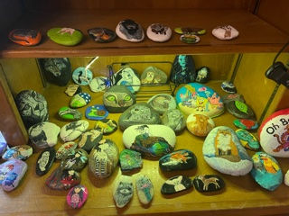 painted rocks of animals and cartoons
