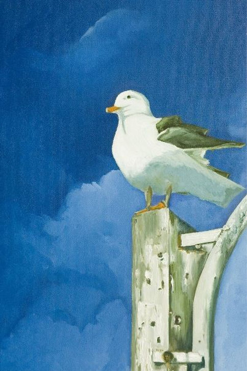 Bird Painting - A Look at the Horizon