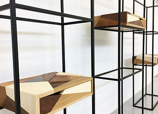 caisson, boite, structure, métal, wood, mobilier, art, meuble, bois, handmade, création, design, upcycling, Mathisse Dalstein