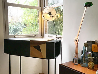 Création, mobilier, design, console, Mathisse Dalstein, upcycling, composition