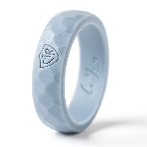"""Women's """"Light Gray"""" Silicone Ring"""