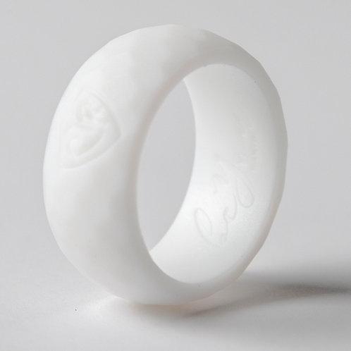 "Men's ""Temple White"" Silicone Ring"