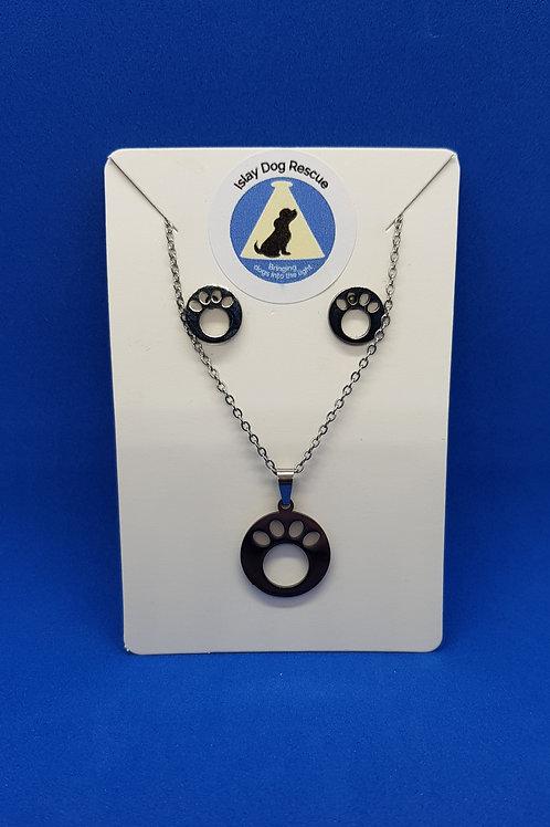 Dog Paw Jewellery Set