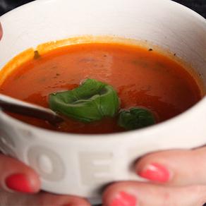 Pittige tomatensoep