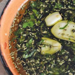 Italiaanse olijfolie brooddip