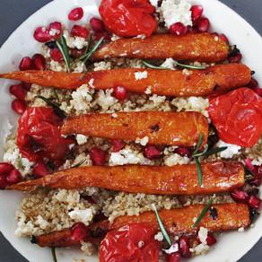 Balsamico wortelsalade met geitenkaas