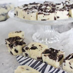 Witte chocolade fudge met Oreo