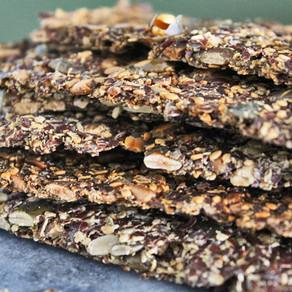 Crackers met lijnzaad