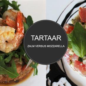 Zalmtartaar VS Mozzarella tomaattartaar