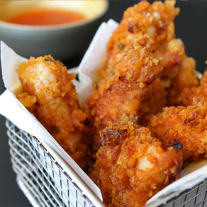 Oven fried chickenstrips
