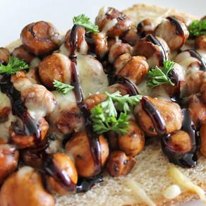 Broodje champignons met balsamico