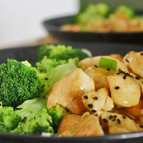 Kipfilet met honing-citroensaus en broccoli