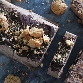Chocolade ijstaart metamaretto koekjes