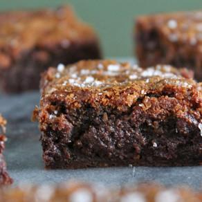Karamel brownies met zeezout
