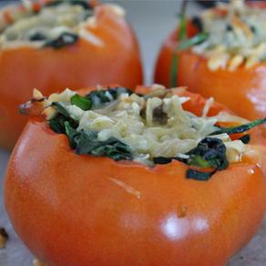 Gevulde tomaten met spinazie