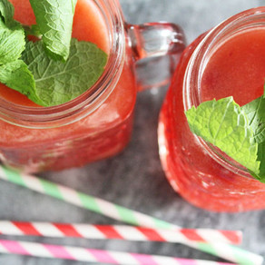 Perzik-framboos limonade