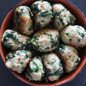 Kipgehaktballetjes met spinazie