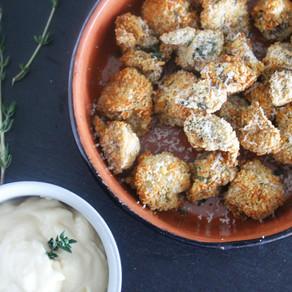 Gepaneerde champignons met aioli