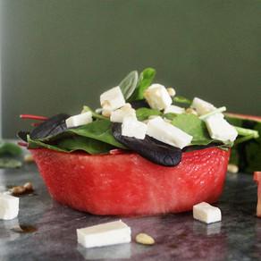 Watermeloensalade met feta en balsamico